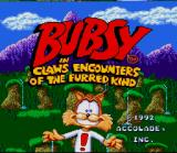 Bubsy in: Claws Encounters of the Furred Kind SNES Title Screen