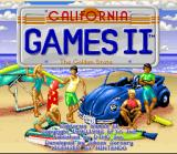 California Games II SNES Title Screen