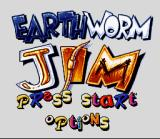 Earthworm Jim SNES Title Screen