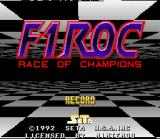 F1ROC: Race of Champions SNES Title Screen