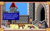 Conquests of Camelot: The Search for the Grail DOS Talking with a guard before leaving on your quest