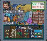 Genghis Khan II: Clan of the Gray Wolf SNES In Game