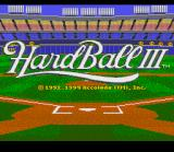 HardBall III SNES Title Screen