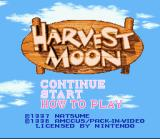 Harvest Moon SNES Title Screen