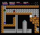 Legacy of the Wizard MSX Going down into the dangerous lair (MSX2)