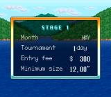 Mark Davis' The Fishing Master SNES Stage 1 info