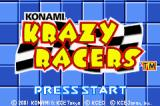 Konami Krazy Racers Game Boy Advance Title Screen