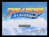Skies of Arcadia: Legends GameCube Title Screen