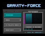 Gravity Force Amiga Main menu