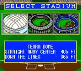 Super Bases Loaded 2 SNES Stadium select