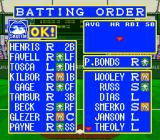 Super Bases Loaded 2 SNES Batting order