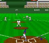Super Bases Loaded 2 SNES Hit the ball
