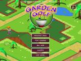 Garden Golf Windows Title screen and main menu