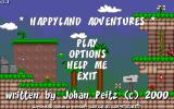 HappyLand Adventures Windows Main menu; unfortunately, no save or reload.