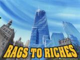 Rags to Riches: The Financial Market Simulation DOS Intro screen, just before menu appears