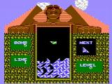 Pyramid NES A game in progress