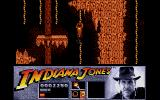 Indiana Jones and the Last Crusade: The Action Game Atari ST Climbing ropes in the dark cavern.