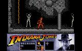 Indiana Jones and the Last Crusade: The Action Game Atari ST Skeletons line the wall. If you're not careful, you'll end up as one too.