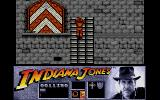 Indiana Jones and the Last Crusade: The Action Game Atari ST Climbing up lattuce work on the castle.