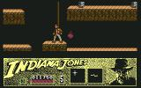 Indiana Jones and the Last Crusade: The Action Game Commodore 64 Level 2 - Indy explores some catacombs.