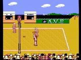 Venice Beach Volleyball NES A game in progress