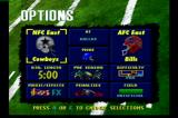 Troy Aikman NFL Football Jaguar Menu screen