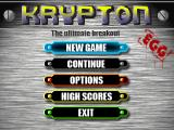 Krypton Egg Windows Main menu.