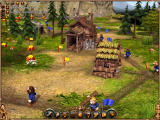The Settlers II: 10th Anniversary - Vikings Windows A lumberjack and a Sawmill, the core of each settlement