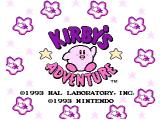 Kirby's Adventure NES Title screen