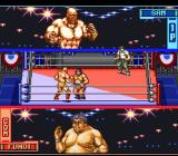 Hammerlock Wrestling SNES Getting close to each other