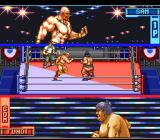 Hammerlock Wrestling SNES Closeups at the top and bottom of the screen
