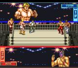 Hammerlock Wrestling SNES A tag team match