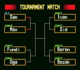Hammerlock Wrestling SNES Tournament tree