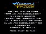 Cybernoid: The Fighting Machine NES Title screen
