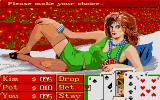 Playhouse Strippoker Atari ST Starting to play with Kim (screen 1)