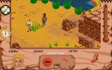Indiana Jones and The Fate of Atlantis: The Action Game Atari ST Level 5 - Sophia explores the island.