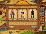 Westward II: Heroes of the Frontier Windows Selecting the hero.