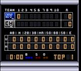 Super R.B.I. Baseball SNES The scoreboard