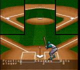 Super R.B.I. Baseball SNES A batter hitting a ball off a tee to give his team some fielding practice