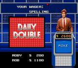 Jeopardy! Deluxe Edition SNES Choose how much to bet on a daily double