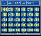 Jeopardy! Deluxe Edition SNES The amounts double in Double Jeopardy