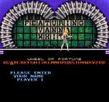 Wheel of Fortune: Deluxe Edition SNES Enter a name