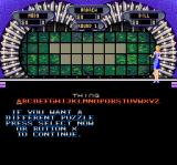 Wheel of Fortune: Deluxe Edition SNES The player can change the puzzle if they don't like the category