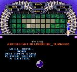 Wheel of Fortune: Deluxe Edition SNES Selecting the correct letter will light up the board
