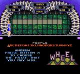 Wheel of Fortune: Deluxe Edition SNES The bonus round