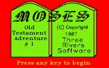 Moses: Old Testament Adventure #1 DOS Title screen