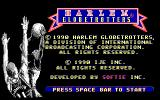 Harlem Globetrotters DOS Title Screen and Copyright Information