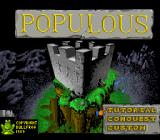 Populous SNES Title screen and main menu