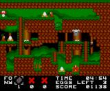 Eggbert in Eggciting Adventure MSX Second level, materializer item to build bridges
