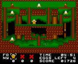 Eggbert in Eggciting Adventure MSX Third level, use the teleporter item to top platform
